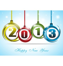 Cute and colorful card on New Year 2013 vector image