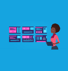 data protection support african woman engineer vector image