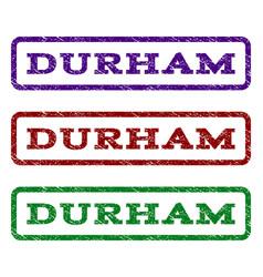 Durham watermark stamp vector