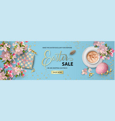 Easter holiday banner vector