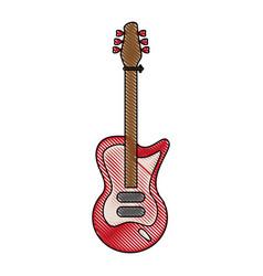 electric guitar instrument vector image