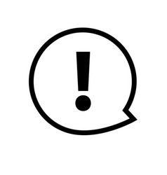 exclamation mark icon attention sign vector image