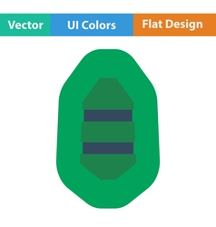 Flat design icon of rubber boat vector image