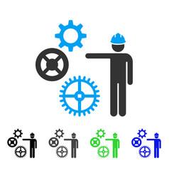 Gears mechanics presentation flat icon vector