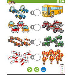 Greater less or equal task with vehicles vector