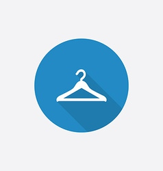Hanger Flat Blue Simple Icon with long shadow vector image