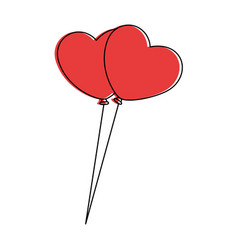 heart shaped balloons icon vector image