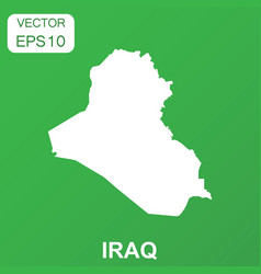 iraq map icon business concept iraq pictogram on vector image