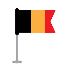 isolated flag of belgium vector image