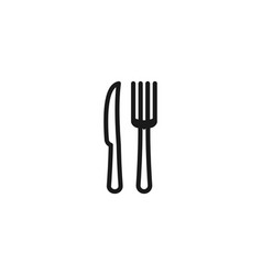 knife and fork restaurant logo icon design vector image