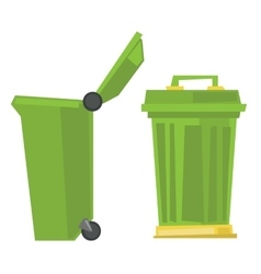 Large trash cans vector image
