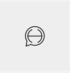 Letter h chat logo template design vector