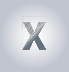 Letter x logo alphabet logotype architectural vector