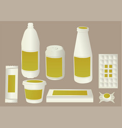 light food packaging vector image