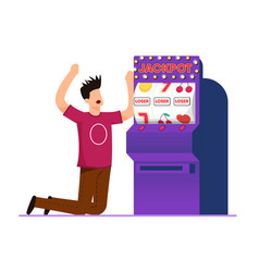 losing gambling on machine vector image