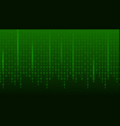 matrix binary code green abstract technology vector image
