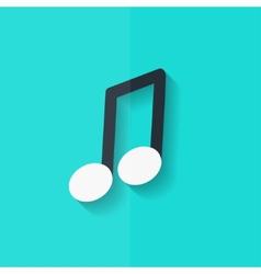 Music note icon Musical background Flat design vector image
