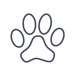 paw sign vector image