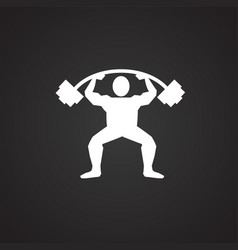 Power lifter on black background vector