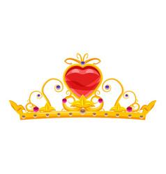 Princess diadem with diamonds and precious stones vector