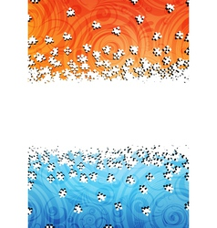 Puzzles background vector