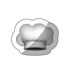 realistic silhouette sticker of chefs hat shading vector image vector image