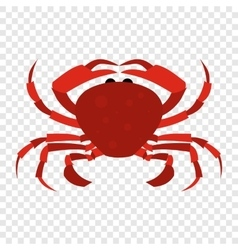 Red crab icon vector