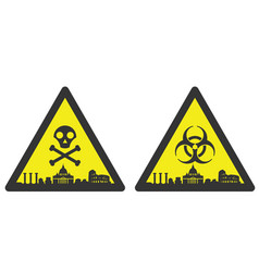 rome danger emergency biological hazard signs and vector image