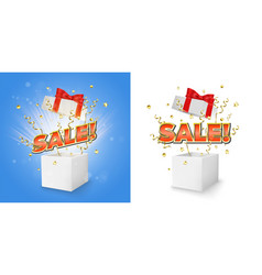 sale gift box set concept for banner vector image