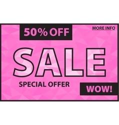 Sale pink banner vector image