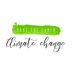 save earth climate change watercolor ink vector image