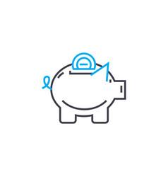 savings fund thin line stroke icon savings vector image