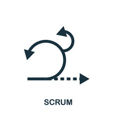 scrum icon symbol creative sign from agile icons vector image