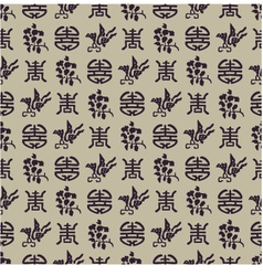 Seamless chinese pattern vector