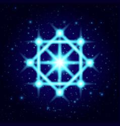 Shine spiritual symbol sacred geometry vector