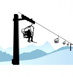 ski lift vector image