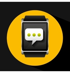 Smart watch concept bubble chat social media vector