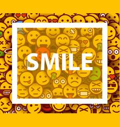Smiley faces design elements background vector