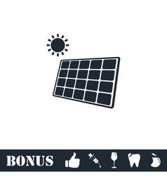 Solar panel icon flat vector