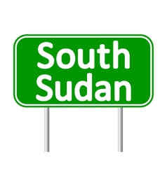 South Sudan road sign vector