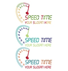 Speed time logo vector