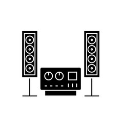 Stereo sound hi-fi system icon vector