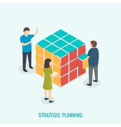 Strategic planning Teamwork concept vector image