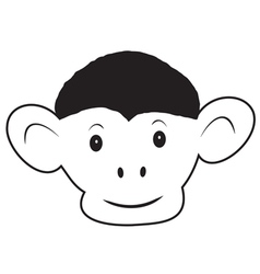 The head of the monkey 1 vector image