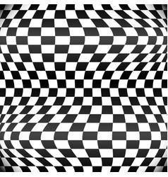 Waving checkered pattern vector