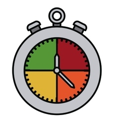 chronometer isolated icon design vector image