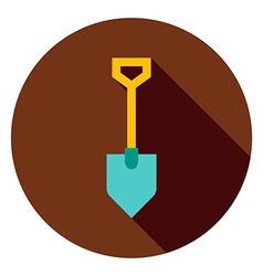 Garden Tool Shovel Circle Icon vector image vector image