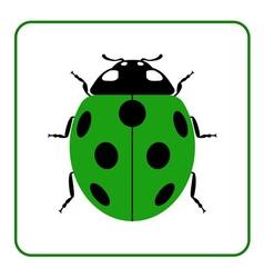 Ladybug realistic cartoon icon vector image vector image