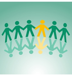 paper cut people vector image