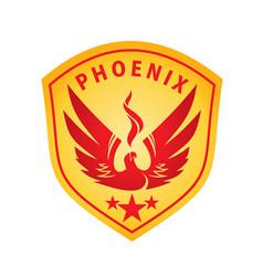 phoenix emblem vector image